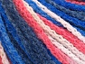 Fiber Content 50% Polyamide, 50% Acrylic, White, Salmon, Brand ICE, Blue Shades, Yarn Thickness 4 Medium  Worsted, Afghan, Aran, fnt2-60362
