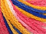 Fiber Content 50% Acrylic, 50% Polyamide, White, Pink, Brand ICE, Gold, Blue, Yarn Thickness 4 Medium  Worsted, Afghan, Aran, fnt2-60364