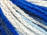 Fiber Content 50% Polyamide, 50% Acrylic, White, Navy, Brand ICE, Blue Shades, Yarn Thickness 4 Medium  Worsted, Afghan, Aran, fnt2-60442