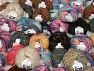 Fancy Yarns This mixed lot includes a total of 2000 gr (70.5 oz.) yarn. There is no standard for ball weight. Also disregard any information on the labels. You will get what you see in the photo. Brand ICE, fnt2-60546