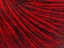 Fiber Content 85% Acrylic, 15% Bamboo, Red, Brand ICE, Black, Yarn Thickness 4 Medium  Worsted, Afghan, Aran, fnt2-61097