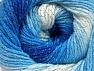 Περιεχόμενο ίνας 95% Ακρυλικό, 5% Lurex, White, Brand ICE, Blue Shades, fnt2-61100