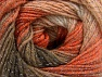 Fiber Content 95% Acrylic, 5% Lurex, Orange, Brand ICE, Brown Shades, Yarn Thickness 3 Light  DK, Light, Worsted, fnt2-61101