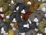 Winter Yarns This mixed lot includes a total of 2000 gr (70.5 oz.) yarn. There is no standard for ball weight. Also disregard any information on the labels. You will get what you see in the photo. Brand ICE, fnt2-61473