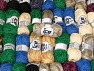 Fancy Yarns This mixed lot includes a total of 2000 gr (70.5 oz.) yarn. There is no standard for ball weight. Also disregard any information on the labels. You will get what you see in the photo. Brand ICE, fnt2-61504
