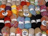 Fancy Yarns This mixed lot includes a total of 2000 gr (70.5 oz.) yarn. There is no standard for ball weight. Also disregard any information on the labels. You will get what you see in the photo. Brand ICE, fnt2-62480