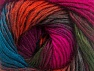This is a self-striping yarn. Please see package photo for the color combination. Fiberinnehåll 100% Premium akryl, Turquoise, Brand ICE, Fuchsia, Dark Green, Copper, Burgundy, fnt2-62908