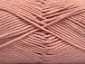Fiberinnehåll 55% Bomull, 45% Akryl, Powder Pink, Brand ICE, Yarn Thickness 4 Medium  Worsted, Afghan, Aran, fnt2-63102