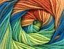 Fiber Content 55% Cotton, 45% Acrylic, Turquoise, Light Brown, Brand ICE, Green Shades, Copper, Blue, fnt2-63395