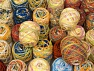 Self-Striping Yarns This mixed lot includes a total of 2000 gr (70.5 oz.) unlabeled yarn. There is no standard for ball weight. You will get what you see in the photo. Brand ICE, fnt2-63886