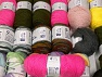 Fancy Yarns This mixed lot includes a total of 2000 gr (70.5 oz.) yarn. There is no standard for ball weight. Also disregard any information on the labels. You will get what you see in the photo. Brand ICE, fnt2-63902
