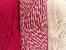 Fiberinnehåll 90% Akryl, 10% Polyester, Brand ICE, Ecru, Candy Pink, fnt2-64024