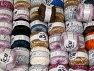 Fancy Yarns This mixed lot includes a total of 2000 gr (70.5 oz.) yarn. There is no standard for ball weight. Also disregard any information on the labels. You will get what you see in the photo. Brand ICE, fnt2-64086