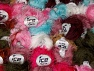 Long Eyelash This mixed lot includes a total of 2000 gr (70.5 oz.) yarn. There is no standard for ball weight. Also disregard any information on the labels. You will get what you see in the photo. Fiber Content 100% Polyester, Brand ICE, fnt2-64100