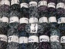 Eyelash Blends This mixed lot includes a total of 2000 gr (70.5 oz.) yarn. There is no standard for ball weight. Also disregard any information on the labels. You will get what you see in the photo. Brand ICE, fnt2-64367