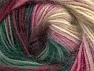 Fiber Content 60% Premium Acrylic, 20% Wool, 20% Mohair, Pink Shades, Brand ICE, Dark Green, Dark Cream, fnt2-64383