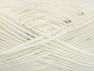 Contenido de fibra 98% Acrílico, 2% Paillette, White, Brand ICE, fnt2-64443