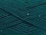 Vezelgehalte 98% Acryl, 2% Pailetten, Brand ICE, Emerald Green, fnt2-64449
