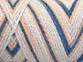 Fiber Content 50% Acrylic, 50% Polyamide, White, Light Salmon, Light Blue, Brand ICE, fnt2-64466