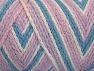 Fiber Content 50% Polyamide, 50% Acrylic, White, Pink, Light Lilac, Light Blue, Brand ICE, fnt2-64467