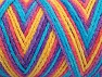 Fiber Content 50% Polyamide, 50% Acrylic, Yellow, Turquoise, Salmon, Lavender, Brand ICE, fnt2-64482