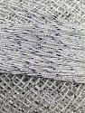 Fiber Content 70% Polyester, 30% Metallic Lurex, Brand YarnArt, White, Silver, Yarn Thickness 0 Lace  Fingering Crochet Thread, fnt2-17343