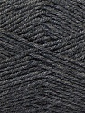 Fiber Content 55% Virgin Wool, 5% Cashmere, 40% Acrylic, Brand Ice Yarns, Dark Grey, Yarn Thickness 2 Fine  Sport, Baby, fnt2-21118