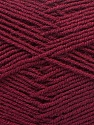 Fiber Content 55% Virgin Wool, 5% Cashmere, 40% Acrylic, Brand Ice Yarns, Burgundy, Yarn Thickness 2 Fine  Sport, Baby, fnt2-21130