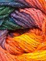 Fiber Content 95% Acrylic, 5% Lurex, Yellow, Purple, Orange, Brand Ice Yarns, Green, Blue, Yarn Thickness 3 Light  DK, Light, Worsted, fnt2-22056