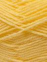 Fiber Content 100% Acrylic, Light Yellow, Brand ICE, Yarn Thickness 3 Light  DK, Light, Worsted, fnt2-22428