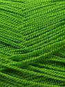Very thin yarn. It is spinned as two threads. So you will knit as two threads. Yardage information is for only one strand. Fiber Content 100% Acrylic, Brand ICE, Green, Yarn Thickness 1 SuperFine  Sock, Fingering, Baby, fnt2-22445