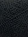 Fiber Content 100% Acrylic, Brand ICE, Black, Yarn Thickness 2 Fine  Sport, Baby, fnt2-23579