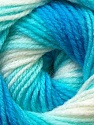 Fiber Content 100% Baby Acrylic, White, Turquoise Shades, Brand ICE, Yarn Thickness 2 Fine  Sport, Baby, fnt2-29604