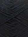 Fiber Content 50% Cotton, 50% Polyester, Brand ICE, Black, Yarn Thickness 2 Fine  Sport, Baby, fnt2-33038