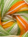 Fiber Content 100% Premium Acrylic, Yellow, White, Orange, Brand ICE, Green Shades, Yarn Thickness 3 Light  DK, Light, Worsted, fnt2-33398