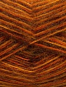 Fiber Content 70% Angora, 30% Acrylic, Orange, Brand ICE, Gold, Copper, Brown, Yarn Thickness 2 Fine  Sport, Baby, fnt2-35083