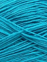 Fiber Content 100% Antibacterial Dralon, Turquoise, Brand Ice Yarns, Yarn Thickness 2 Fine  Sport, Baby, fnt2-35237