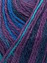 Fiber Content 40% Acrylic, 35% Wool, 25% Alpaca, Turquoise, Purple, Maroon, Brand ICE, Blue, Yarn Thickness 2 Fine  Sport, Baby, fnt2-36986