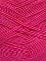 Fiber Content 55% Cotton, 45% Acrylic, Brand ICE, Dark Pink, Yarn Thickness 1 SuperFine  Sock, Fingering, Baby, fnt2-38675