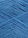 Fiber Content 55% Cotton, 45% Acrylic, Light Blue, Brand ICE, Yarn Thickness 1 SuperFine  Sock, Fingering, Baby, fnt2-38682