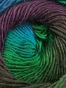 Fiber Content 50% Wool, 50% Acrylic, Turquoise, Brand ICE, Green, Brown, Yarn Thickness 2 Fine  Sport, Baby, fnt2-40632
