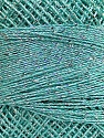 Fiber indhold 70% Polyester, 30% Metallisk Lurex, Silver, Mint Green, Brand Ice Yarns, Yarn Thickness 0 Lace  Fingering Crochet Thread, fnt2-40705