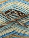Fiber Content 75% Acrylic, 25% Wool, White, Brand ICE, Brown, Blue, Beige, Yarn Thickness 5 Bulky  Chunky, Craft, Rug, fnt2-40815