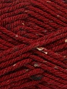 Fiber Content 72% Acrylic, 3% Viscose, 25% Wool, Brand ICE, Dark Red, Yarn Thickness 6 SuperBulky  Bulky, Roving, fnt2-40840
