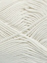 Fiber Content 50% Bamboo, 50% Cotton, White, Brand ICE, Yarn Thickness 2 Fine  Sport, Baby, fnt2-41439