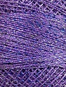 Fiberinnhold 70% Polyester, 30% Metallisk Lurex, Silver, Lilac, Brand Ice Yarns, Blue, Yarn Thickness 0 Lace  Fingering Crochet Thread, fnt2-41696