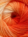 Fiber Content 100% Baby Acrylic, White, Orange Shades, Brand Ice Yarns, Yarn Thickness 2 Fine  Sport, Baby, fnt2-41727