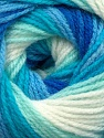 Fiber Content 100% Baby Acrylic, White, Turquoise, Brand Ice Yarns, Blue, Yarn Thickness 2 Fine  Sport, Baby, fnt2-42266