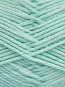 Fiber Content 50% Acrylic, 50% Polyamide, Light Mint Green, Brand ICE, Yarn Thickness 3 Light  DK, Light, Worsted, fnt2-42385