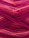 Fiber Content 100% AntiBacterial Micro Dralon, Pink Shades, Brand ICE, Fuchsia, Yarn Thickness 2 Fine  Sport, Baby, fnt2-42652